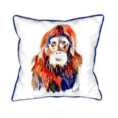 Orangutan Extra Large Zippered Pillow 22X22