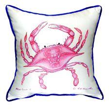 Pink Crab Extra Large Zippered Pillow 22X22