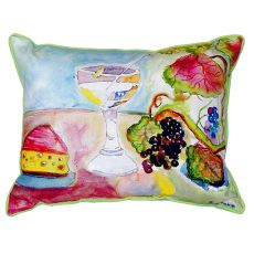 Wine & Cheese Extra Large Zippered Pillow 20X24