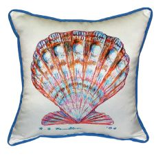 Scallop Shell Extra Large Zippered Pillow 22X22