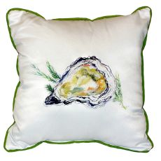 Oyster Extra Large Zippered Pillow 22X22
