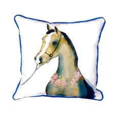 Horse & Garland Extra Large Zippered Pillow 22X22