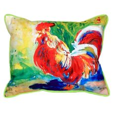 Red Rooster Extra Large Zippered Pillow 20X24