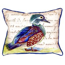 Female Wood Duck Script Extra Large Zippered Pillow 20X24