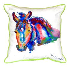 Nellie - Horse Extra Large Zippered Pillow 20X24