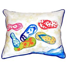 Six Flip Flops Extra Large Zippered Pillow 22X22