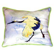 Yellow Crane Extra Large Zippered Pillow 20X24