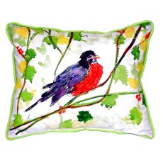 Robin Extra Large Zippered Pillow 20X24