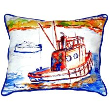 Rusty Boat Extra Large Zippered Pillow 20X24