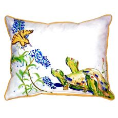 Turtles & Butterfly Extra Large Zippered Pillow 20X24