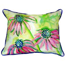 Cone Flowers Extra Large Zippered Pillow 20X24