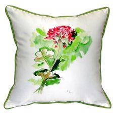 Geranium Extra Large Zippered Pillow 22X22