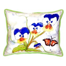 Pansies Extra Large Zippered Pillow 20X24