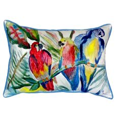 Parrot Family Extra Large Zippered Pillow 20X24