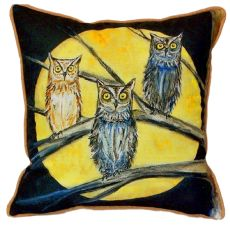 Night Owls Extra Large Zippered Pillow 22X22