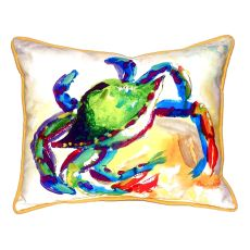 Teal Crab Extra Large Zippered Pillow 20X24