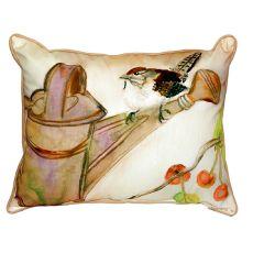 Carolina Wren Extra Large Zippered Pillow 20X24