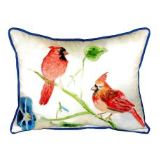 Betsy'S Cardinals Extra Large Zippered Pillow 20X24