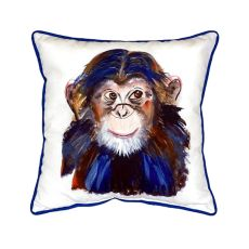 Chimpanzee Extra Large Zippered Pillow 22X22