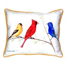 Three Birds Extra Large Zippered Pillow 20X24