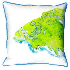 Green Fish Extra Large Zippered Pillow 22X22