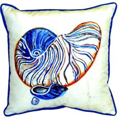 Betsty'S Nautilus Extra Large Zippered Pillow 22X22