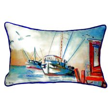 Shrimp Boat Extra Large Zippered Pillow 20X24