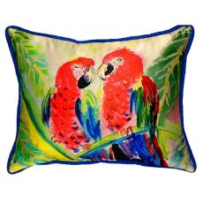 Two Parrots Extra Large Zippered Pillow 20X24