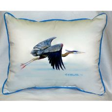 Eddie'S Blue Heron Extra Large Zippered Pillow 20X24