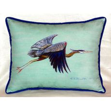 Flying Blue Heron - Teal Extra Large Zippered Pillow 20X24