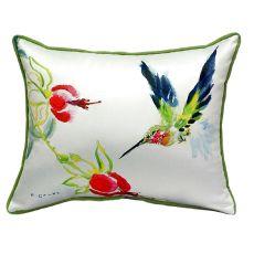 Betsy'S Hummingbird Extra Large Zippered Pillow 20X24