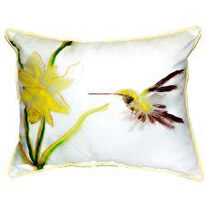 Yellow Hummingbird Extra Large Zippered Pillow 20X24