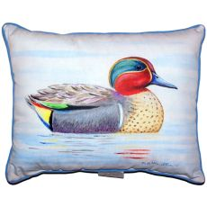 Green Wing Teal Extra Large Zippered Pillow 20X24