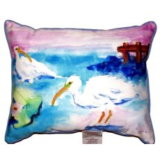 Betsy'S White Ibis Extra Large Zippered Pillow 20X24