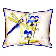 Blue Dragonfly Extra Large Zippered Pillow 20X24