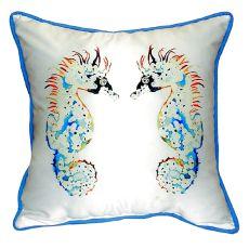 Betsy'S Seahorses Extra Large Zippered Pillow 22X22