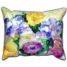Watercolor Garden Extra Large Zippered Pillow 20X24