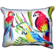 Three Parrots Extra Large Zippered Pillow 20X24