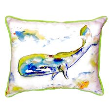 Whale Extra Large Zippered Pillow 20X24
