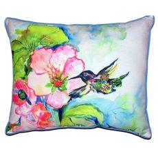 Hummingbird & Hibiscus Extra Large Zippered Pillow 20X24