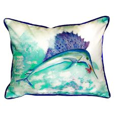 Betsy'S Sailfish Extra Large Zippered Pillow 20X24