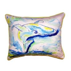 Blue Whale Extra Large Zippered Pillow 20X24
