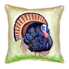 Wild Turkey Extra Large Zippered Pillow 22X22