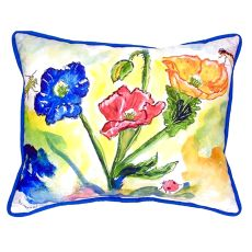 Bugs & Poppies Extra Large Zippered Pillow 20X24