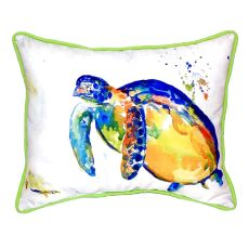 Blue Sea Turtle Ii Extra Large Zippered Pillow 20X24