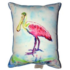 Betsy'S Pink Spoonbill Extra Large Zippered Pillow 20X24