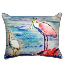 Spoonbill & Ibis Extra Large Zippered Pillow 20X24
