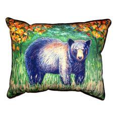 Black Bear Extra Large Zippered Pillow 20X24