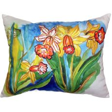 Daffodils Extra Large Zippered Pillow 20X24