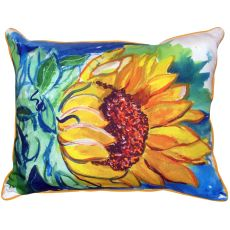 Windy Sunflower Extra Large Zippered Pillow 20X24